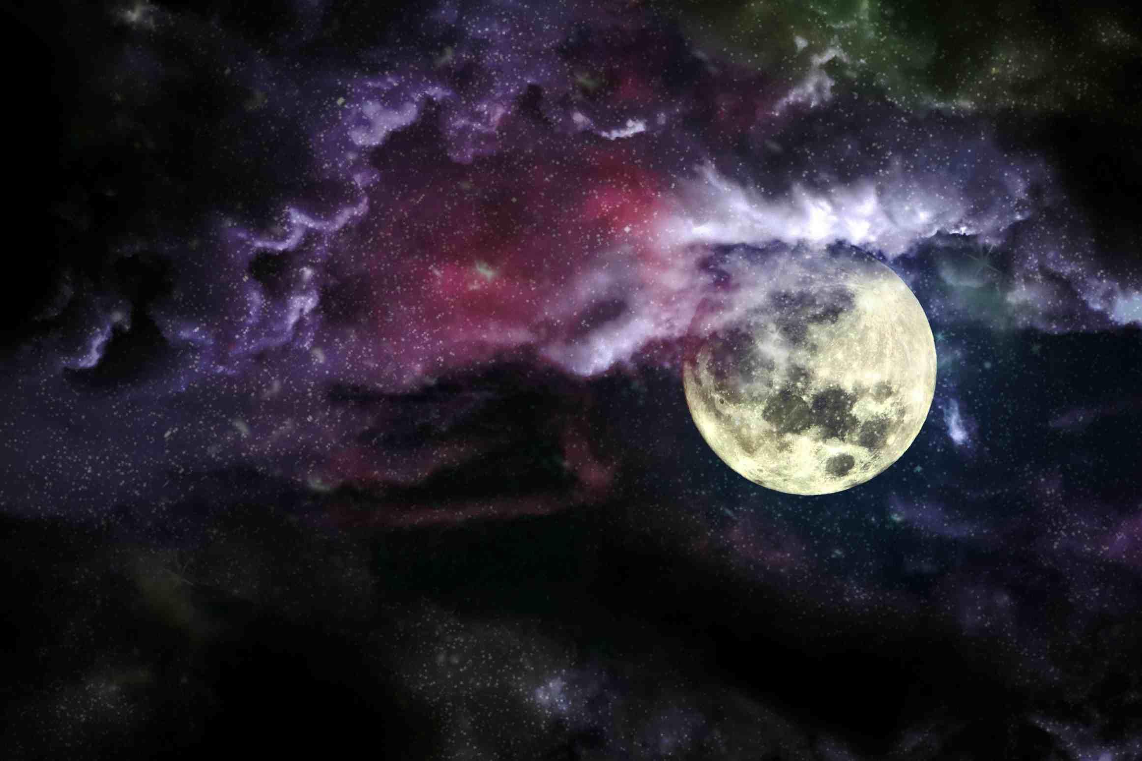 Заговор на луну, растущую или убывающую
